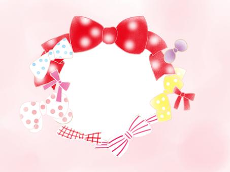 Cute ribbon frame