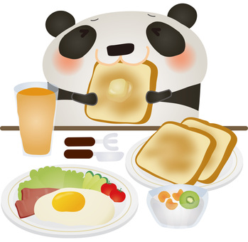 Panda breakfast bread