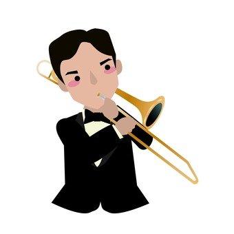 트롬본 연주자 남성