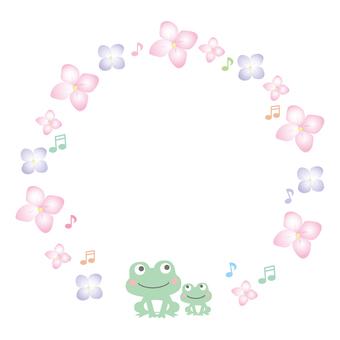 Frogs and petals circle