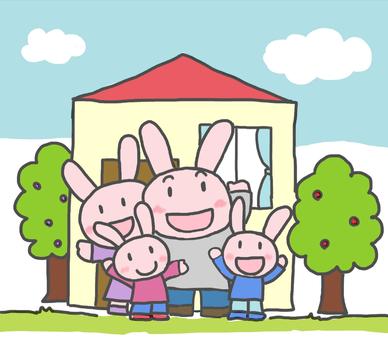 토끼 가족 (4 명)