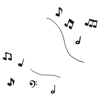 Flowing music note