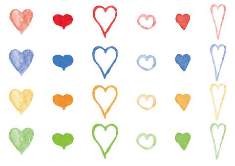 """Watercolor"" Heart"