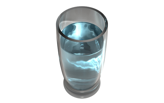 Glass and water 11 (background transparent)