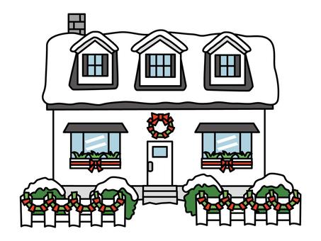 Christmas house (white) 3