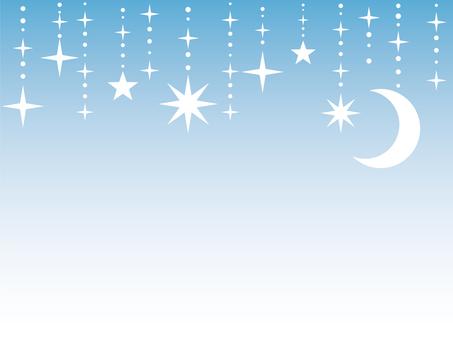 Moon pendant blue