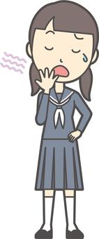 Junior high school sailor woman -014 whole body