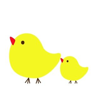 Large and small yellow bird