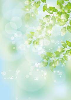 Glittering leaves & sky 70