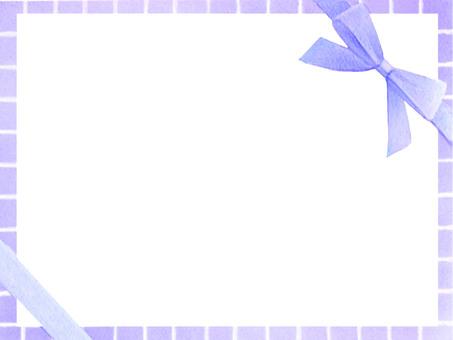 리본 프레임 (블루)