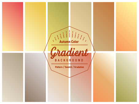 Gradation 4 / Swatch / Background Autumn color