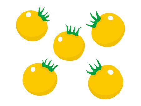 Cut Illustration Petit Tomato · Yellow