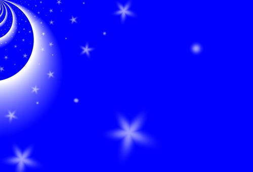 배경 소재 우주 이미지 (블루)