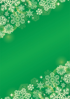 Christmas snow background green licked vertical position