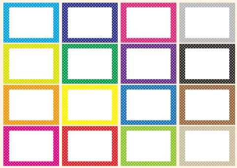 Frame set of polka dot