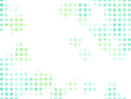 물방울 수채화 배경 소재 01 / 녹색