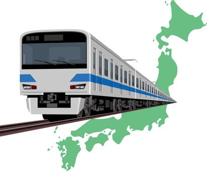 Train Japan Map
