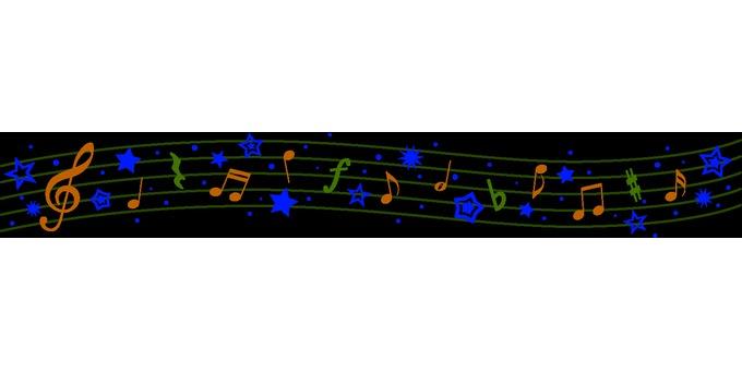 Summer music line (color)