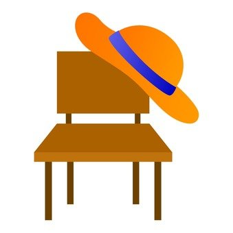 Chair and hat