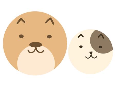 Round dog and round cat