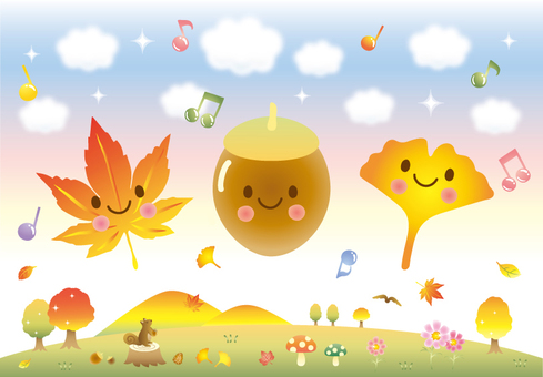 Autumn music illustration