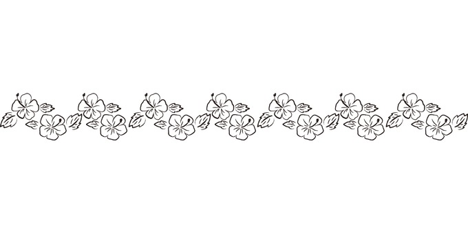 Hibiscus 06 - line - black