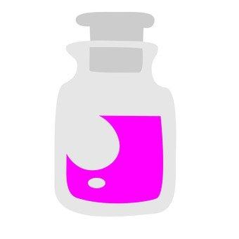 蓋與玻璃瓶粉紅