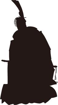 Ukiyo-e character silhouette part 145
