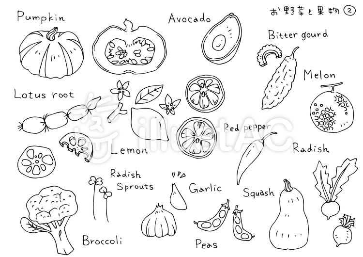 手書きイラスト02 お野菜と果物イラスト No 902020無料イラストなら