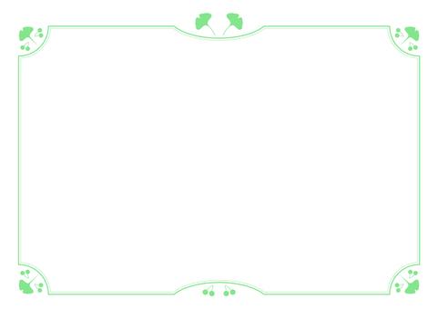 Gingko lineframe (green)