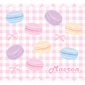 Macaron girly material set