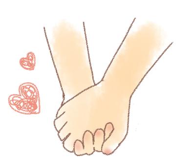 Hands connecting hands