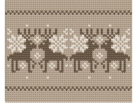 Reindeer's mesh pattern