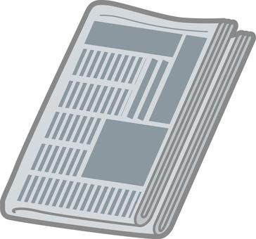 축소 된 신문 2 비스듬히