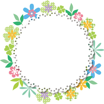 Lace _ flower frame