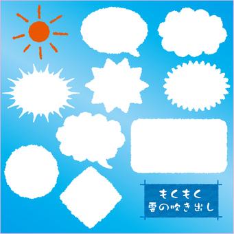 Muzzy cloud balloon material