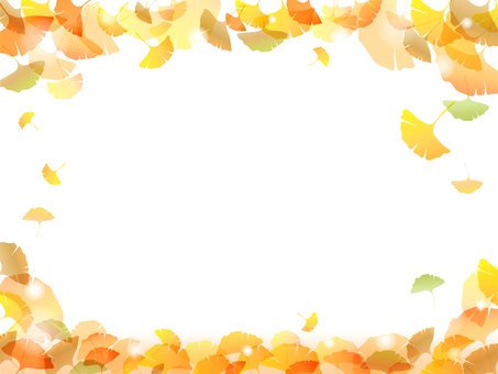 Colored leaves Ginkgo Background -4