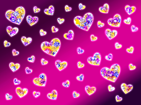 【Glitter】 Heart Background 【Pink type】