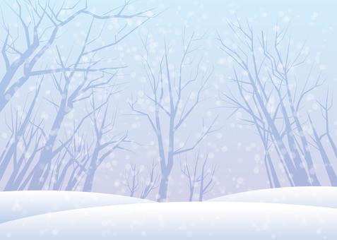 Snow scenery, background, A4 horizontal, Tuzu pay
