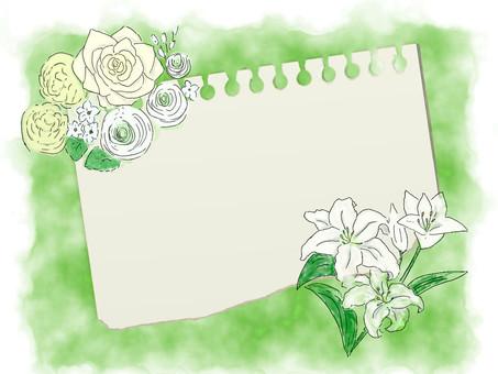 White celebration flower Romantic note