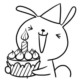 Birthday birthday cake rabbit drawing