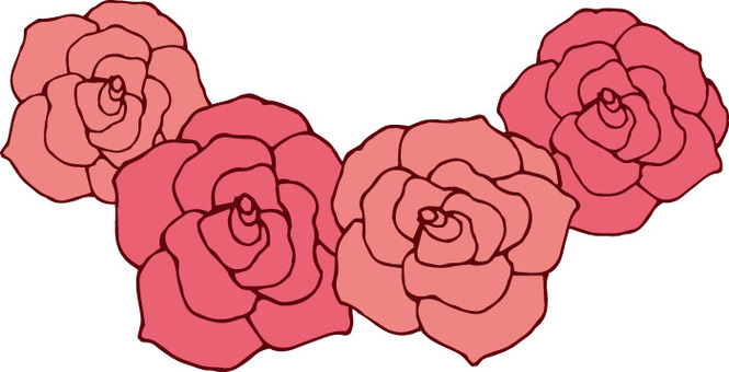 Flower (rose · pink garland)