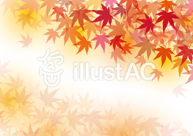 背景素材紅葉もみじ秋装飾テクスチャ筆壁紙イラスト No 無料イラストなら イラストac