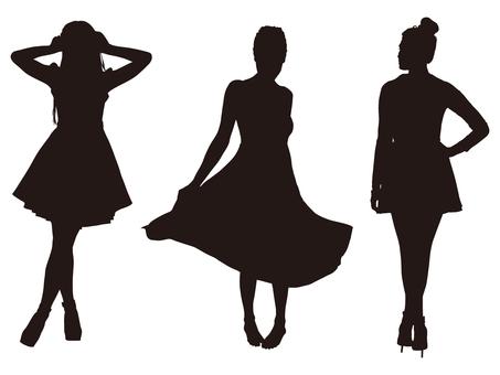 Female silhouette (Fashion 007)