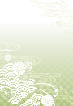 Background (Japanese pattern 1 vertical / green)