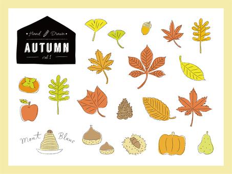 Handwritten Wind Autumn · Food illustration set 1