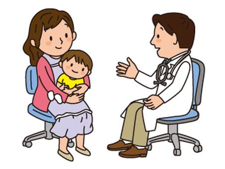 醫生和父母和孩子