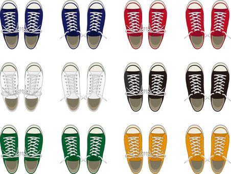 Knot sneakers color set