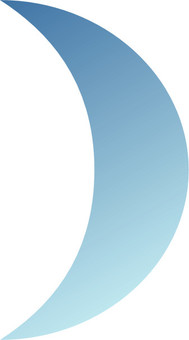 BLUE MOON crescent moon