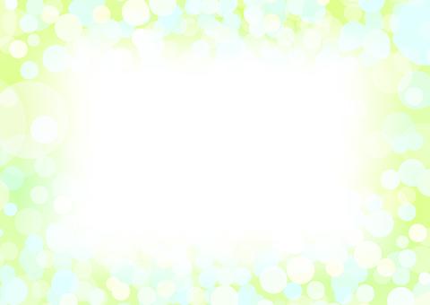 緑の円形抽象背景素材フレーム
